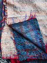 Load image into Gallery viewer, Nadiya Recycled Silk Kantha Scarf - Hand Stitched
