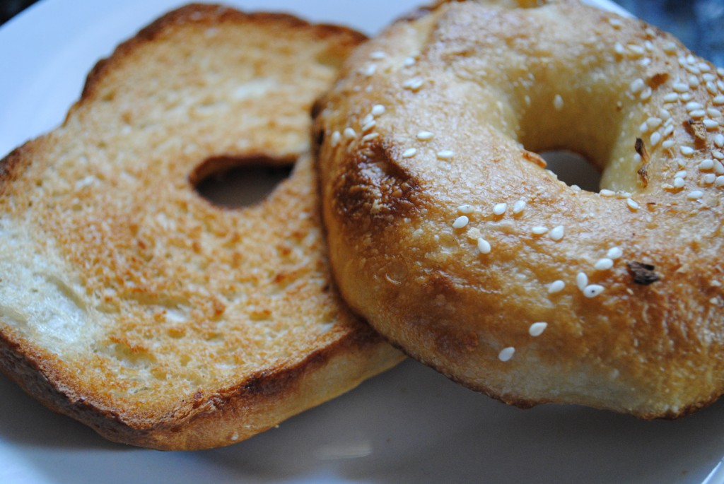 Toasted Fresh Bagels