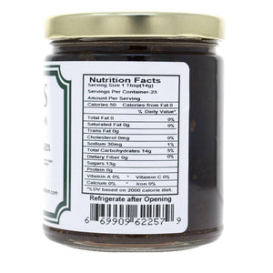 Balsamic Sweet Onion Jam Nutritional