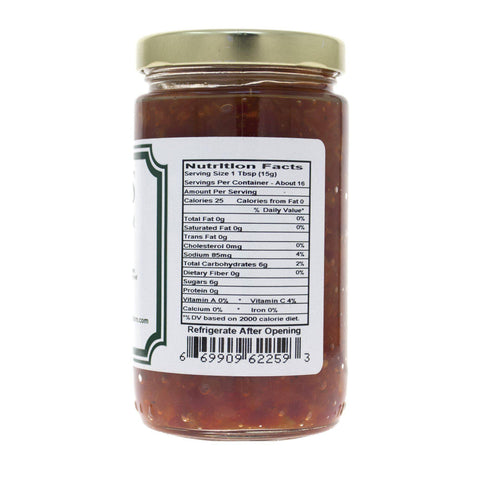 Pepper Relish - Nutritional