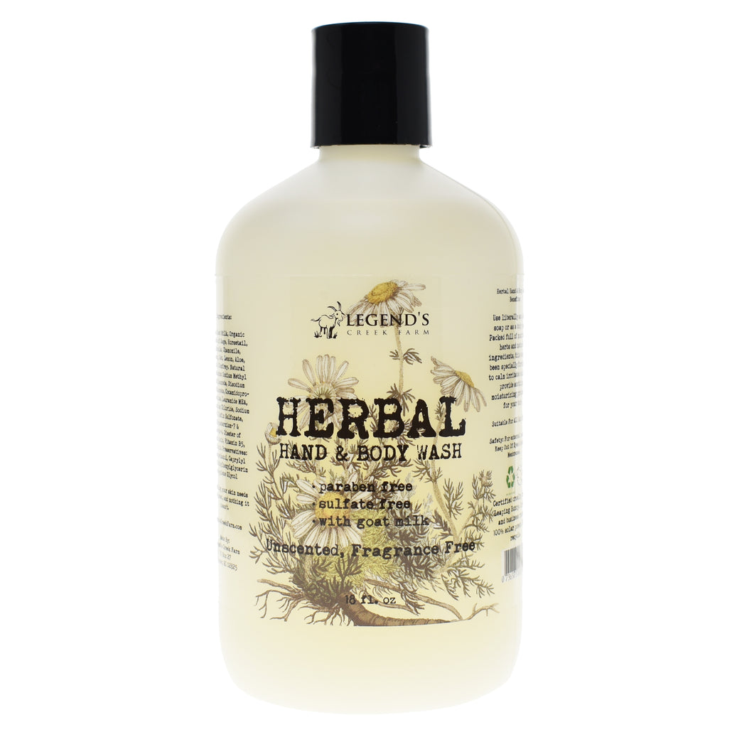 Unscented Liquid Goat Milk Hand Soap & Body Wash