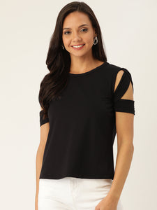 Rue Collection Women Black Solid Top
