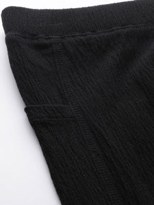Women Black Solid Pants