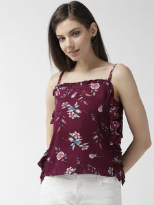 Women Floral printed crop top
