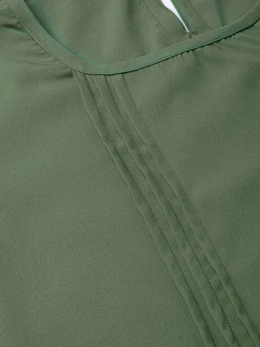Women Olive Green Solid Top