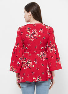 Rue Collection V-Neck Floral Top