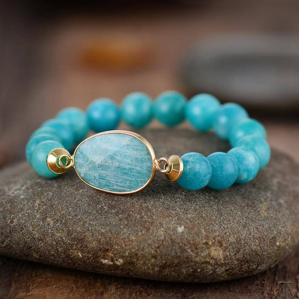 Bracelet Lakota : amazonite