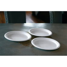 "Load image into Gallery viewer, 10"" Compostable Fiber/Bagasse Plate"