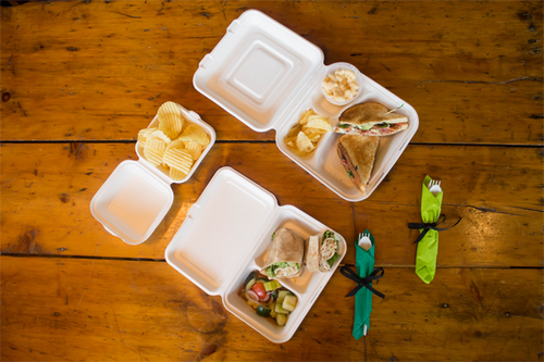 2-Compartment Takeout Container