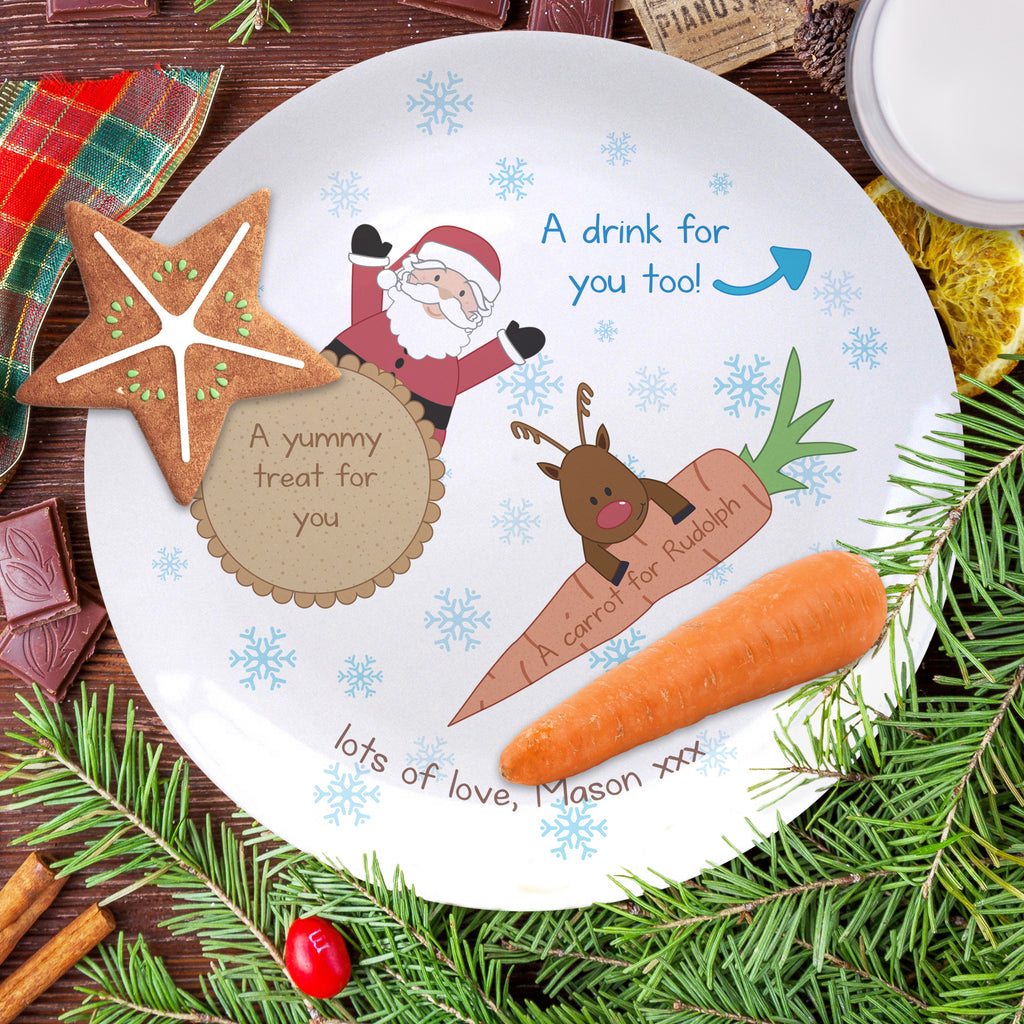 Treats for Santa 8″ Coupe Plate