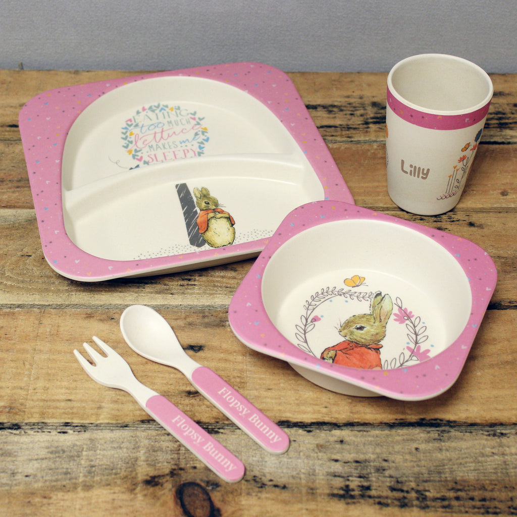 Flopsy Rabbit Dinner Set - great gift for kids - Oh My Gift