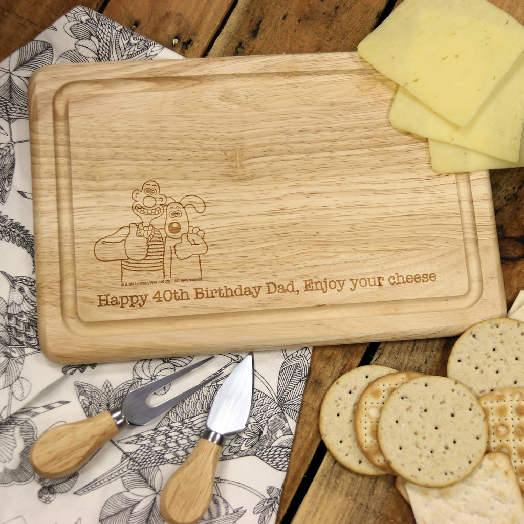 W & G 'Thumbs Up' Wooden Rectangle Cheese Board