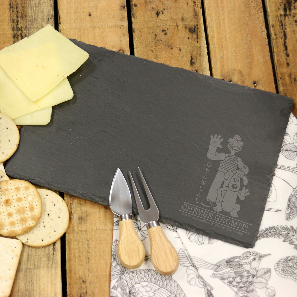 Wallace & Gromit 'Cheese Gromit' Rectangle Slate Cheese Board
