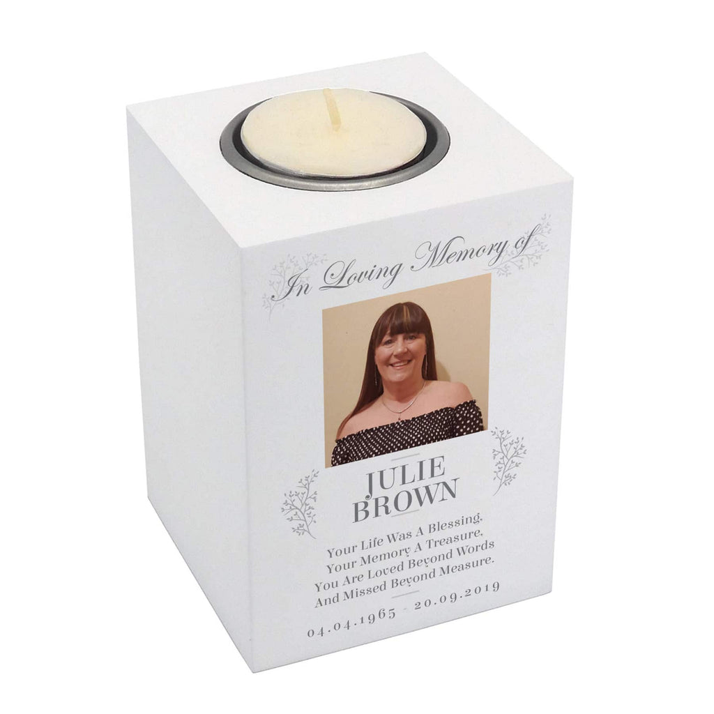 Photo Memorial Wooden Tea-Light Holder