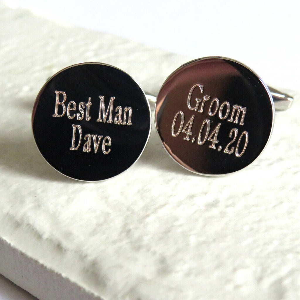 Silver Plate Wedding Cufflinks