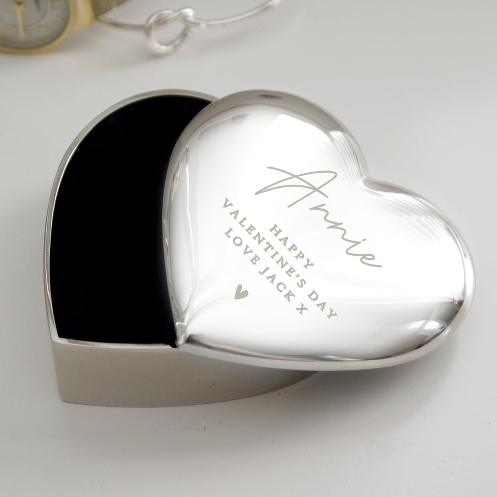 Heart Trinket Box with Personalised Name and Message