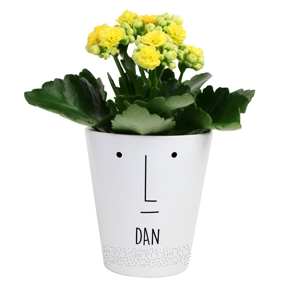 Personalised 'Mr Face' Plant Pot