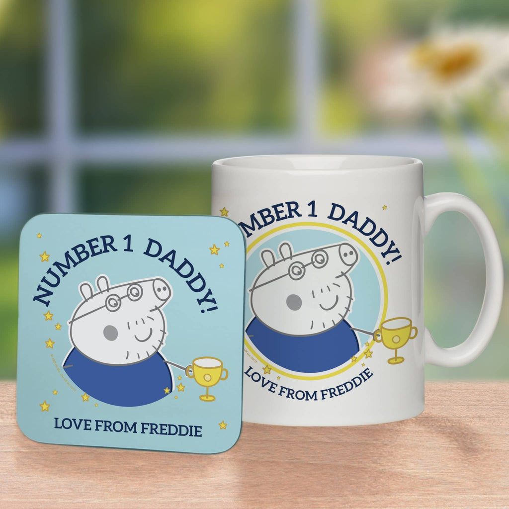Peppa Pig™ Number 1 Daddy Mug & Coaster