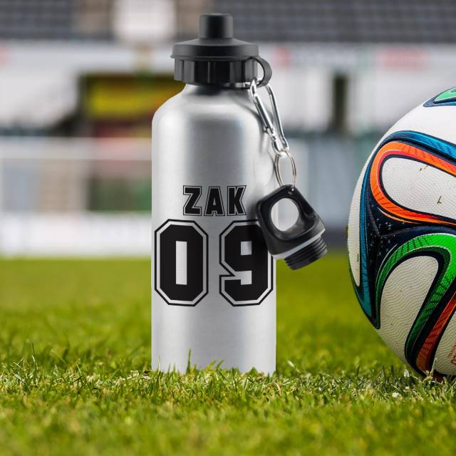 Sports Number Silver Drinks Bottle
