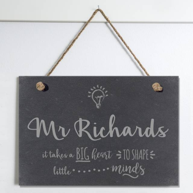 Personalised Teacher Thank You Slate Sign
