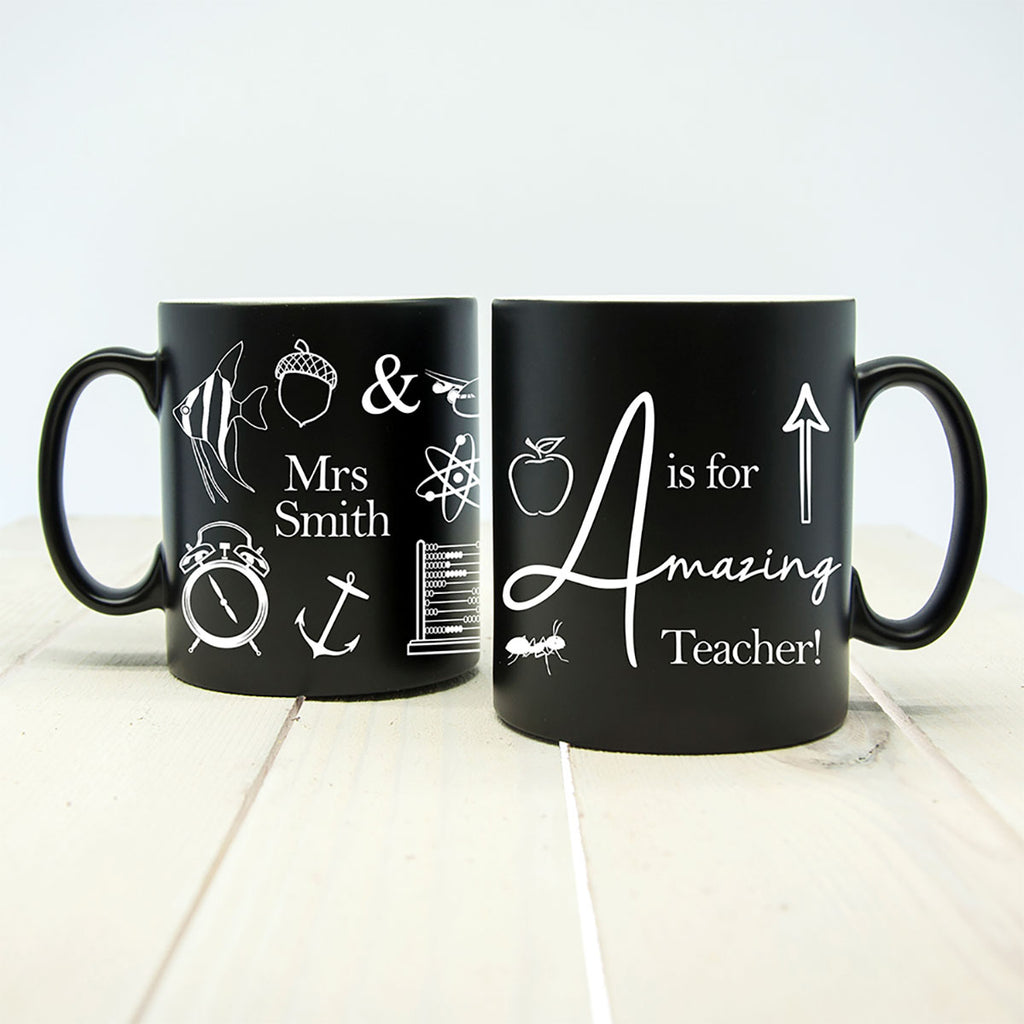 A is for Amazing Teacher Personalised Mug - Oh My Gift