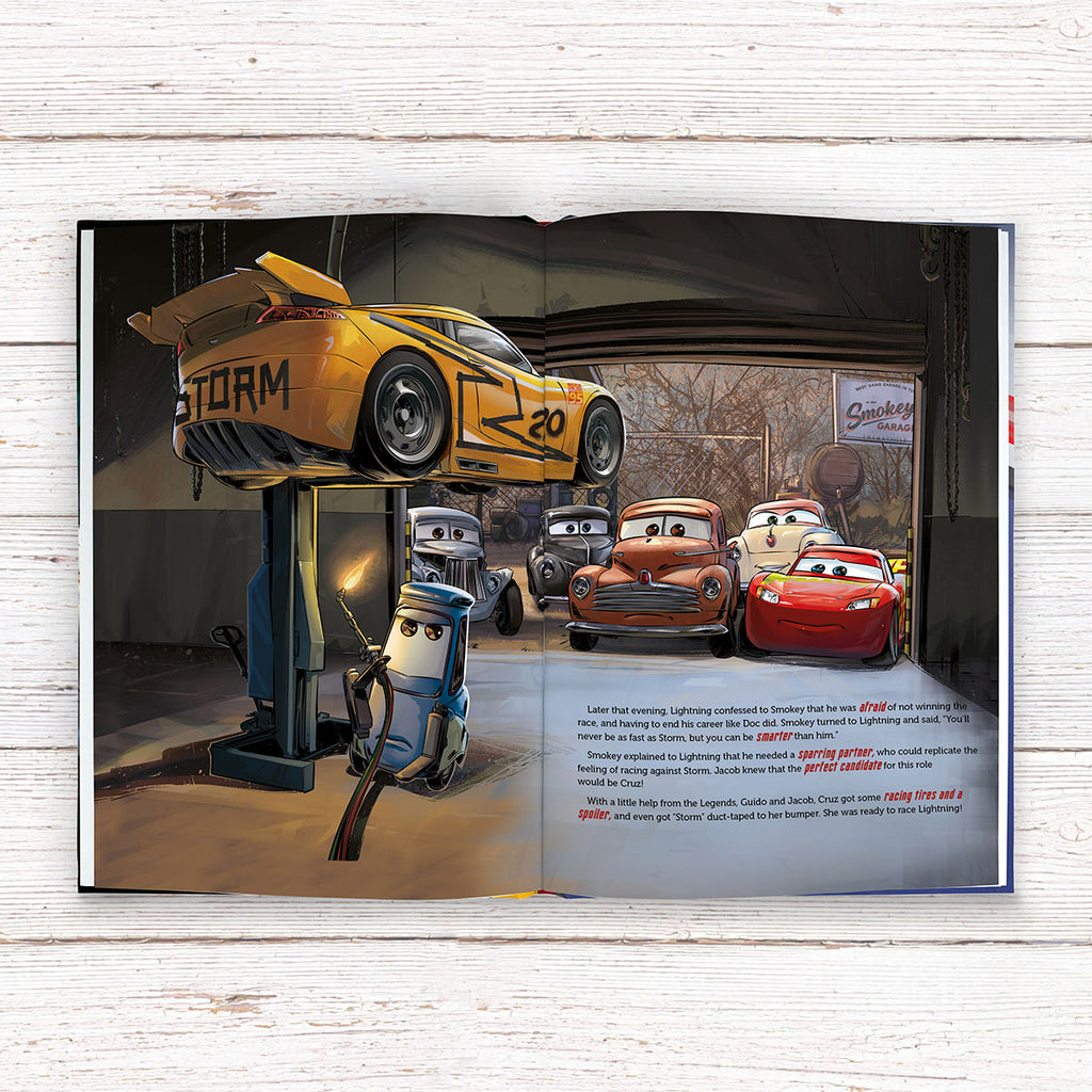 Personalised Disney Cars 3 Book - Great Gift for Young Rev Heads - Oh My Gift