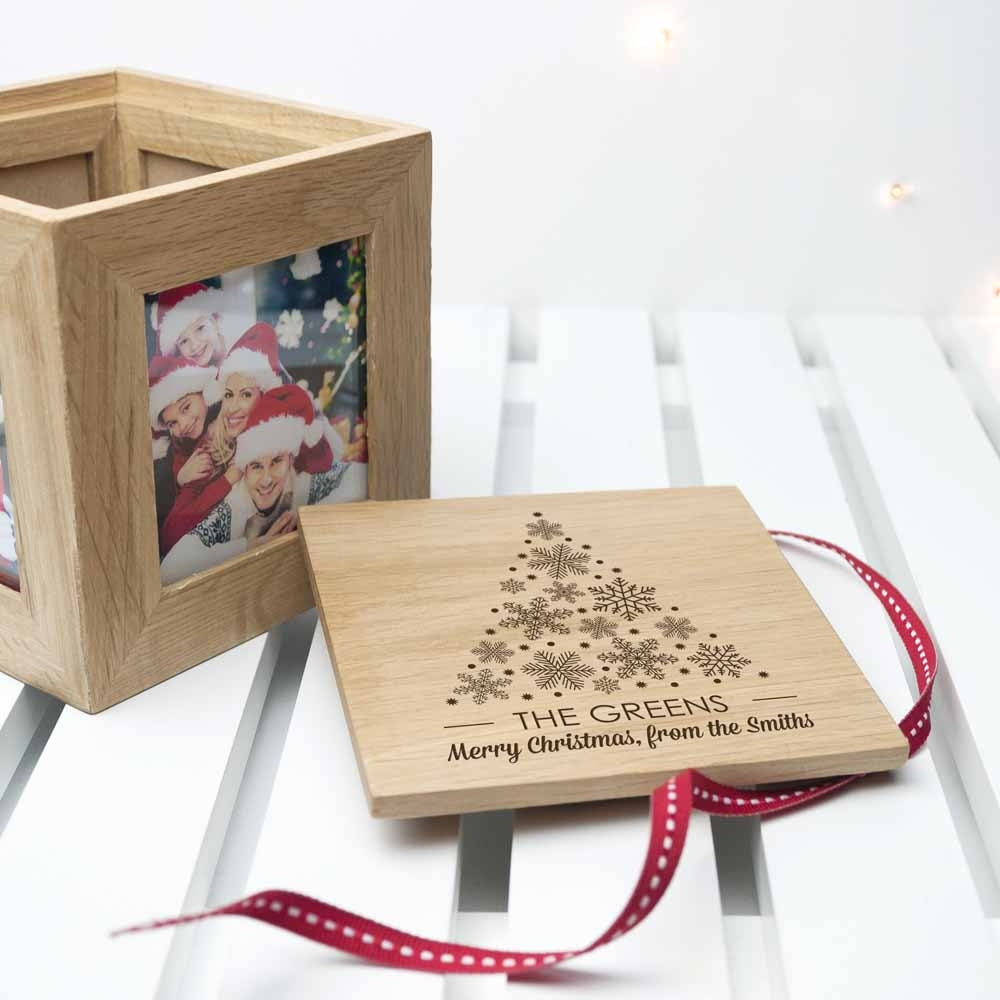 Christmas Photo Cube With Festive Treats Lid Off - Oh My Gift