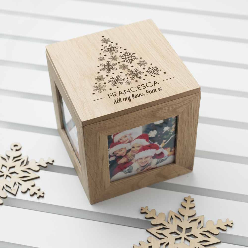 Christmas Photo Cube With Festive Treats with Christmas Stars - Oh My Gift