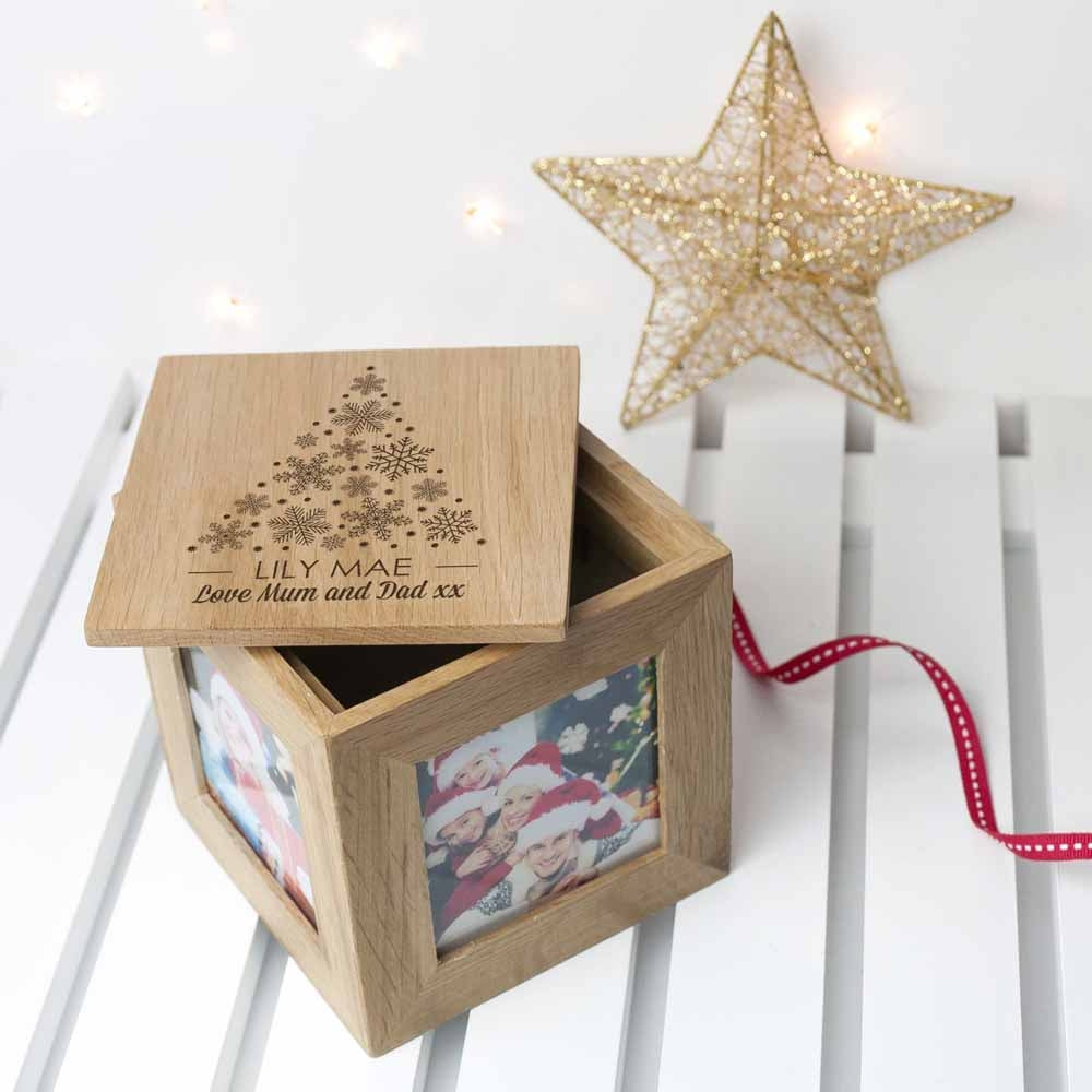 Christmas Photo Cube With Festive Treats On Display - Oh My Gift