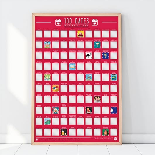 Dates to Go On Bucket List - Scratch Poster - Oh My Gift