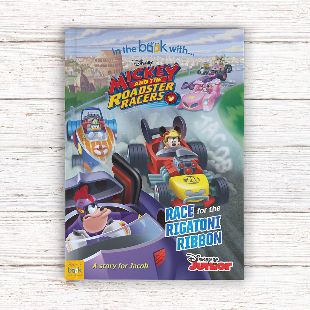 Personalised Disney Mickey and the Roadster Racers Book - Books for Boys - Oh My Gift