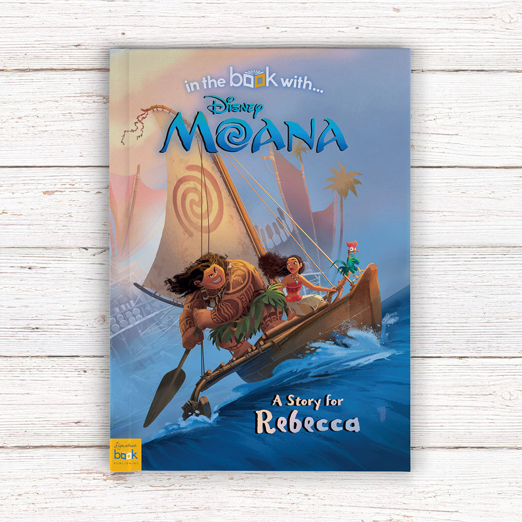Personalised Disney Moana Book - Great Gift for Girls Party Present - Oh My Gift