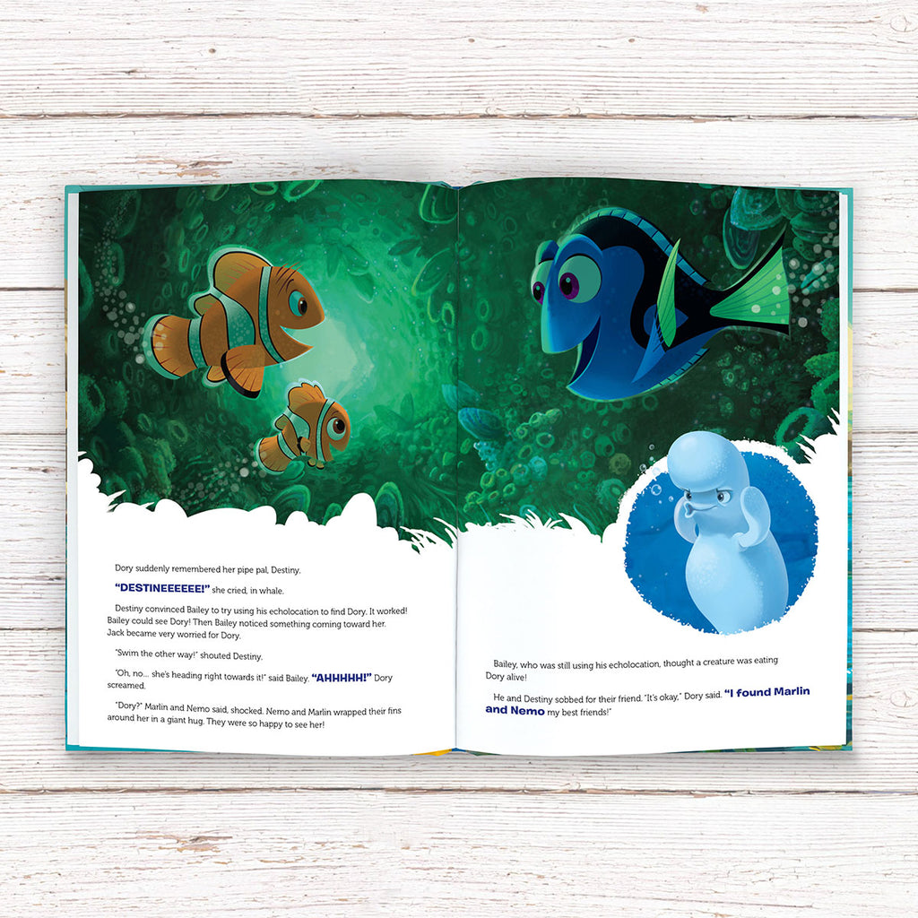 Personalised Disney Finding Dory Book - Reading for Boys - Oh My Gift