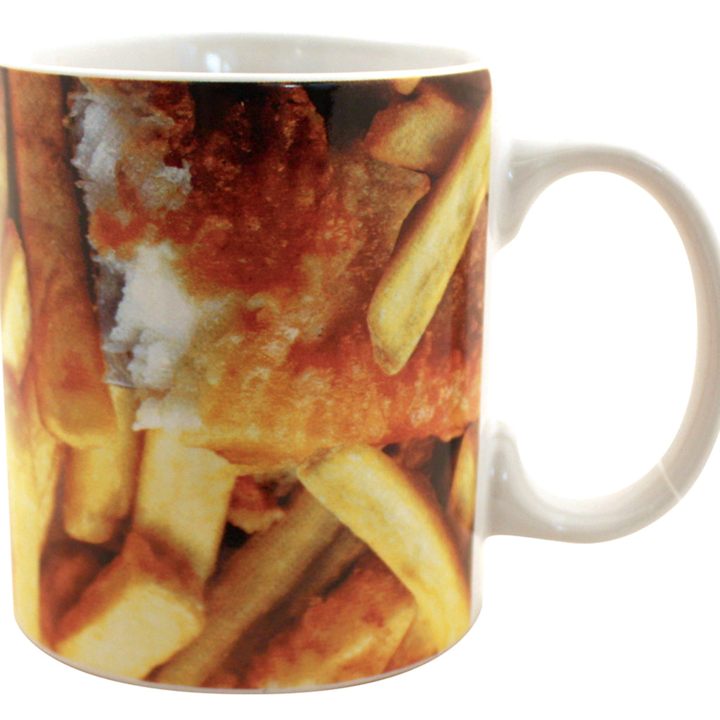 Mug with picture of fish and chips supper - Oh My Gift