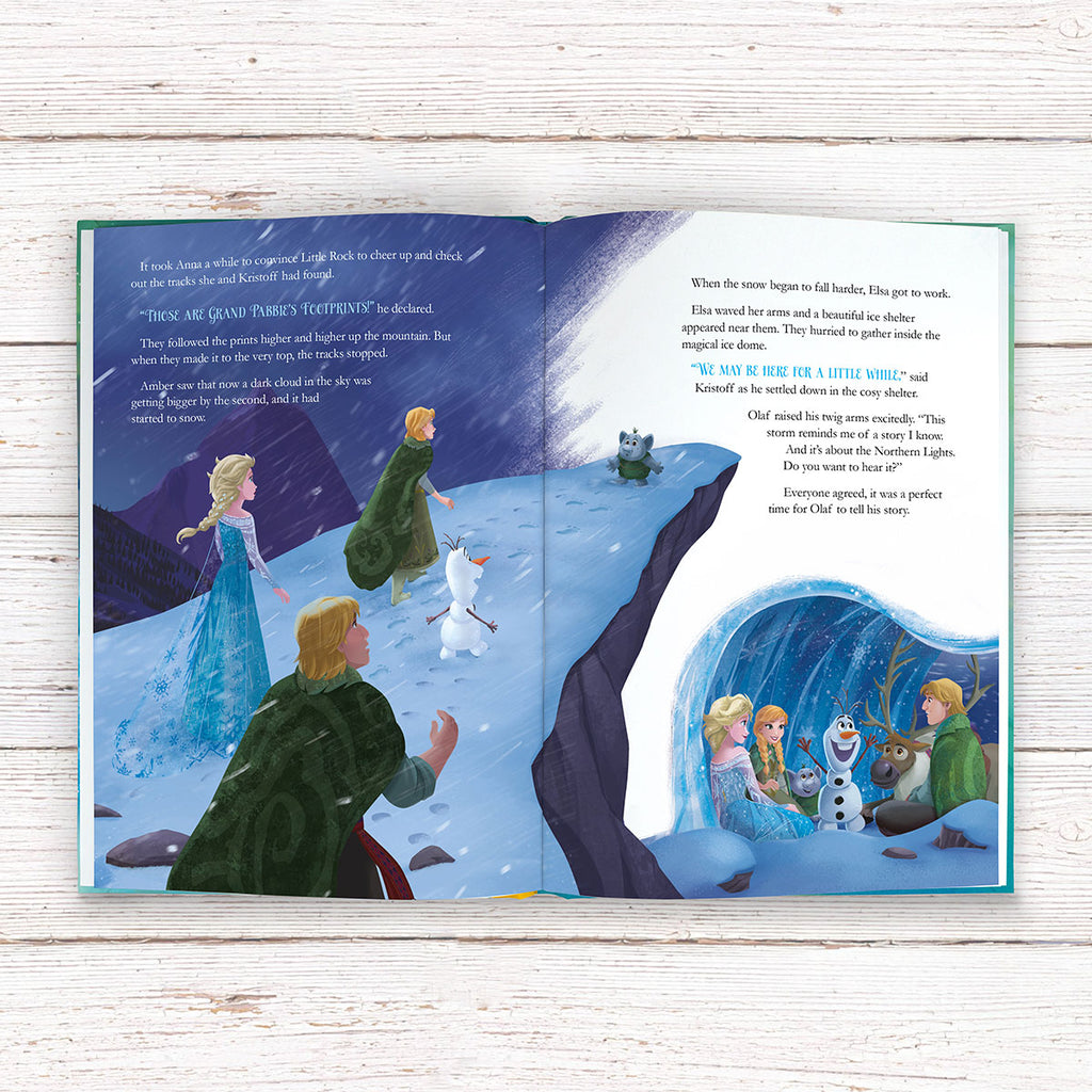 Personalised Disney Frozen Northern Lights Book - Perfect Present for Little Girls - Oh My Gift