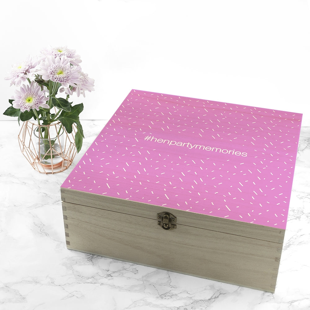 The Ultimate Girly Pink Box with Vase of flowers - Oh My Gift