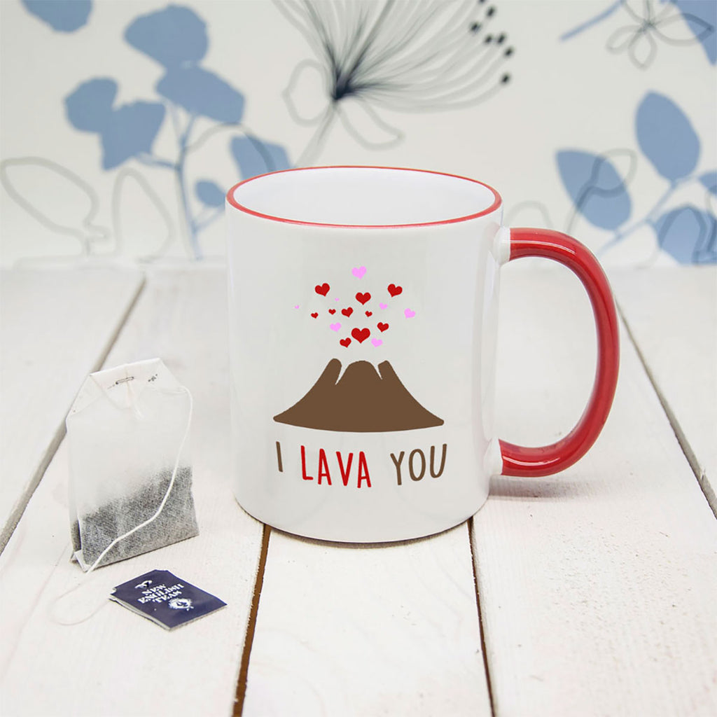 I Lava You Mug with Picture of Volcano - Oh My God
