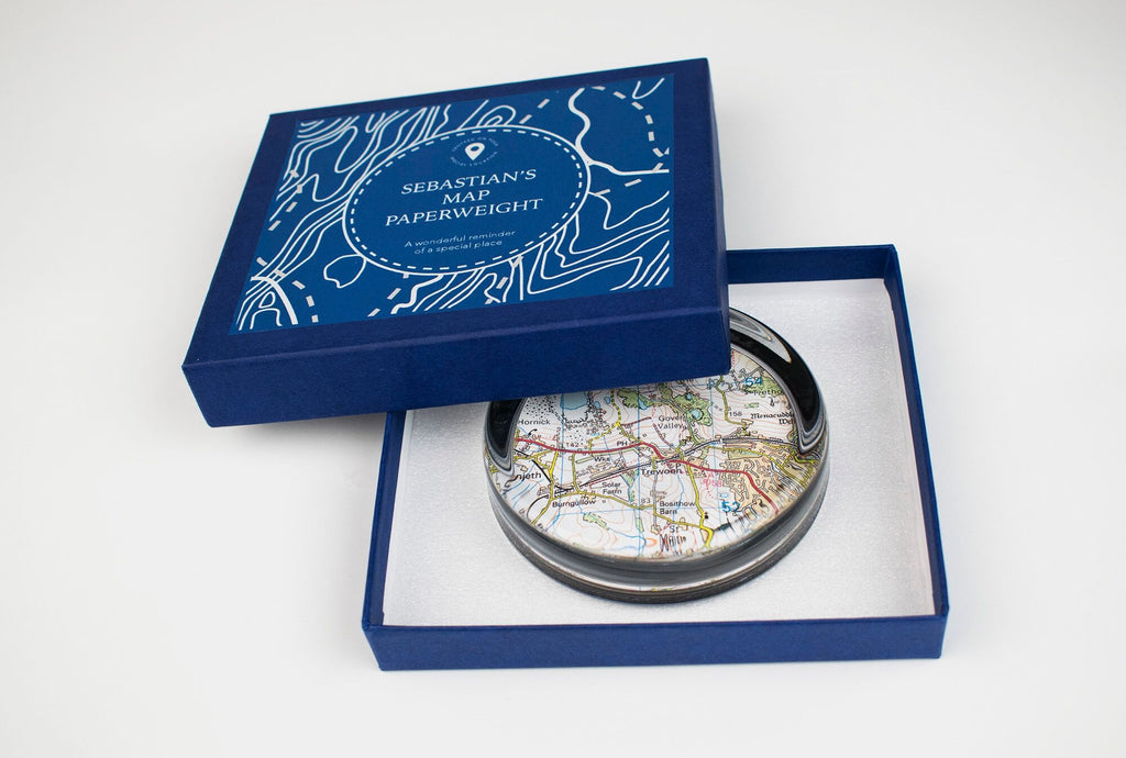 Personalised Map Paperweight - Oh My Gift