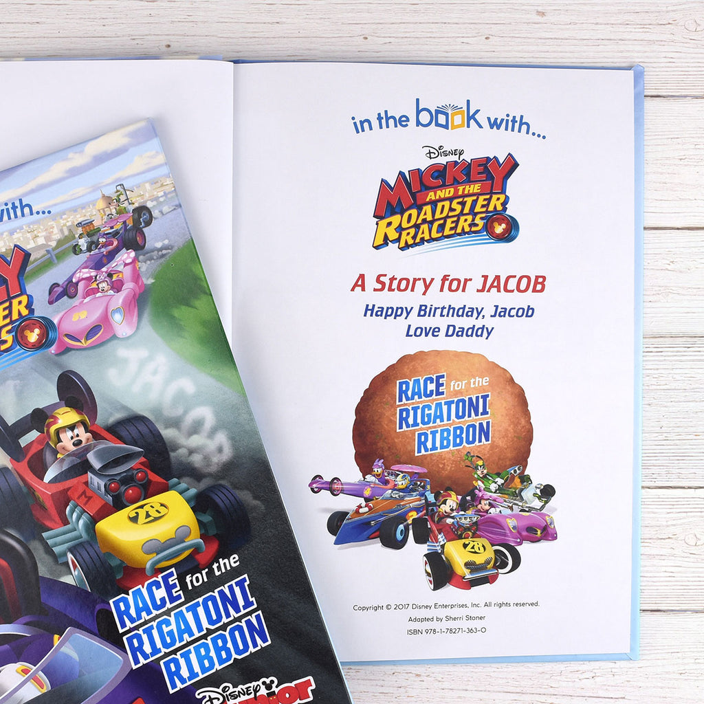 Personalised Disney Mickey and the Roadster Racers Book - Great Gift for Little Boys - Oh My Gift