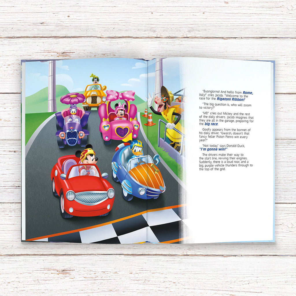 Personalised Disney Mickey and the Roadster Racers Book - Perfect Present for Little Boy Racers - Oh My Gift