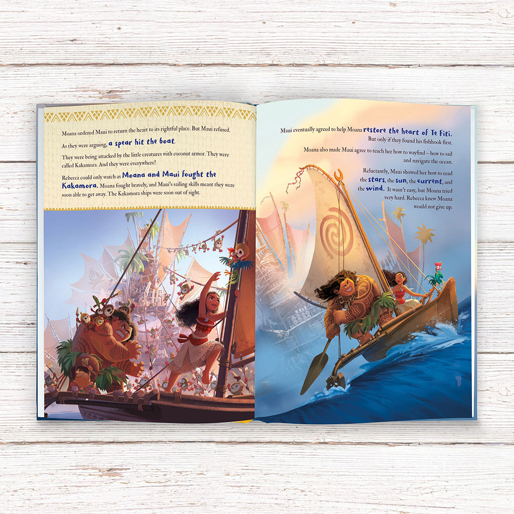 Personalised Disney Moana Book - Great Gift for Adventurous Girls - Oh My Gift