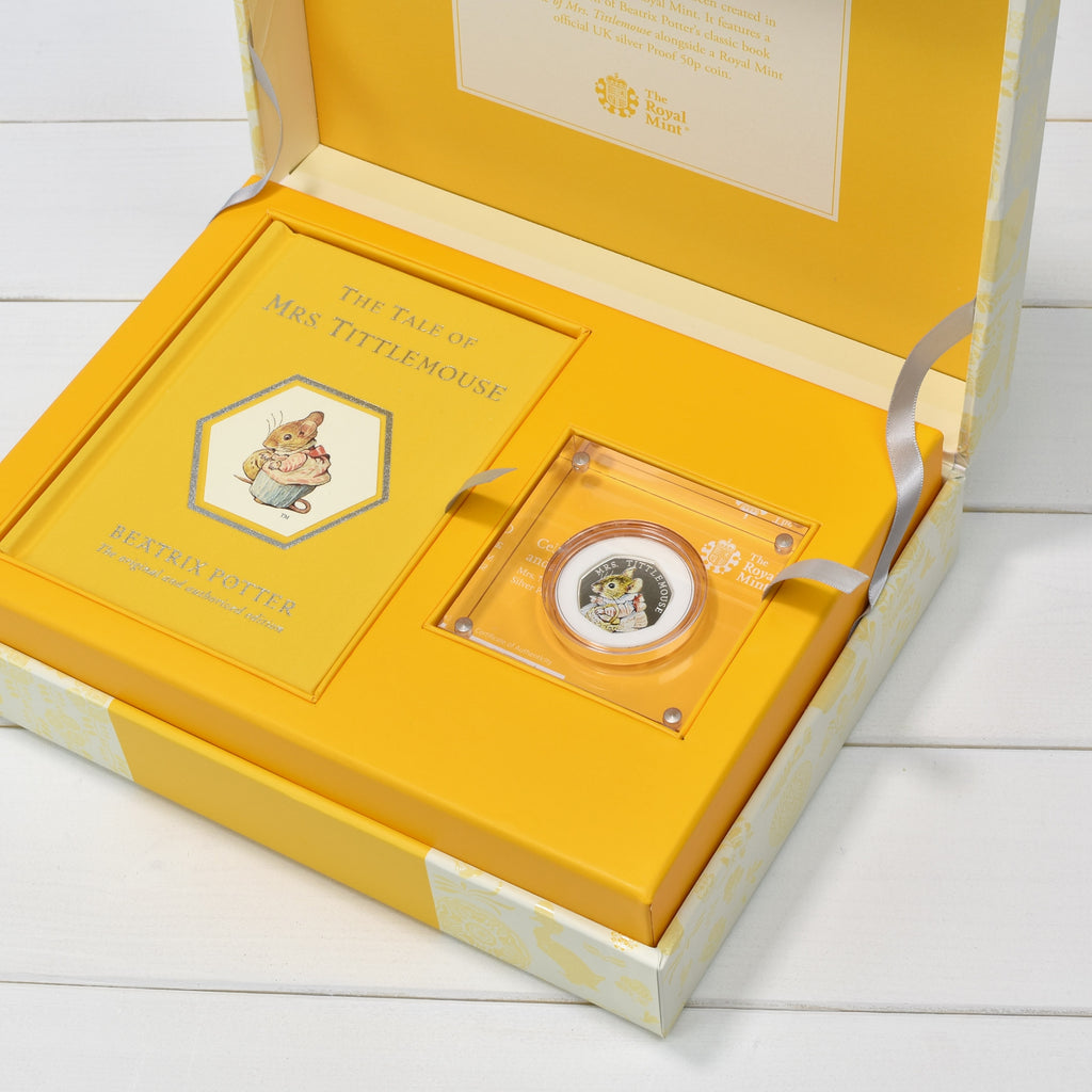 Mrs Tittlemouse Royal Mint Silver Proof Coin & Book Set - Oh My Gift