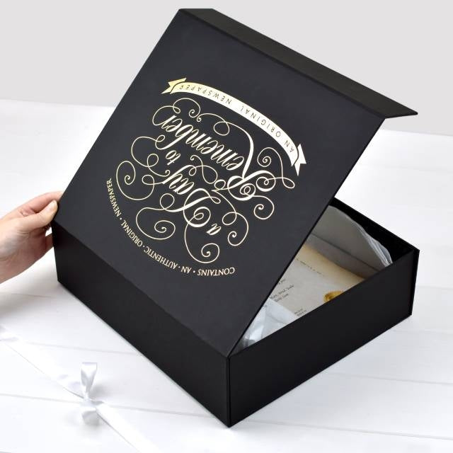 Original Birthday Newspaper - Oh My Gift - Luxury Gift Box
