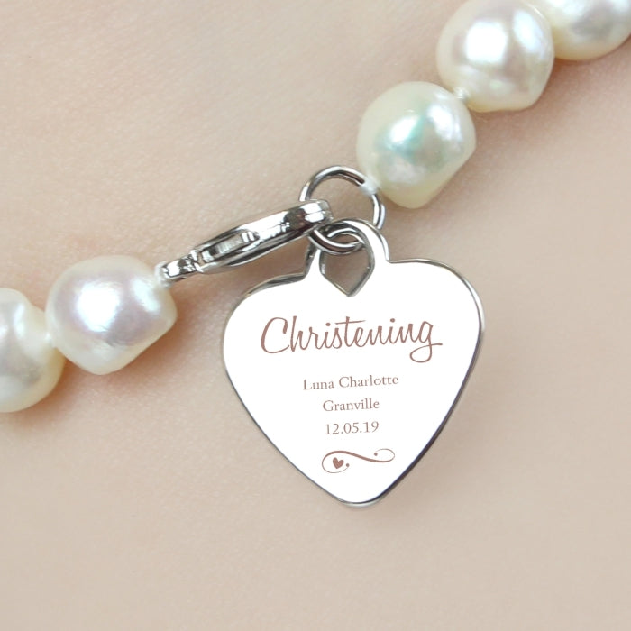 Personalised Christening Pearl Bracelet - Oh My Gift