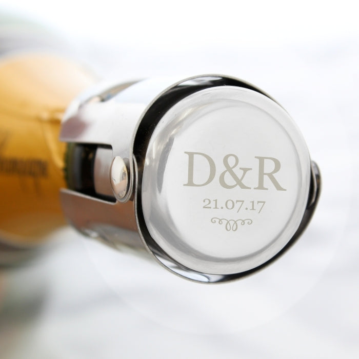 Personalised Monogram Bottle Stopper with Couple's Initials - Oh My Gift