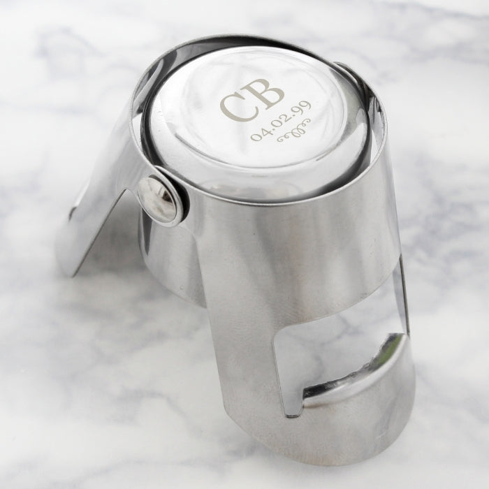Personalised Monogram Bottle Stopper Open - Oh My Gift