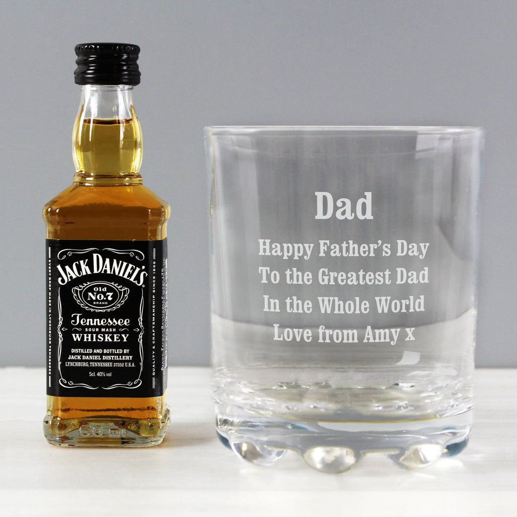Personalised Tumbler and Whiskey Miniature Set