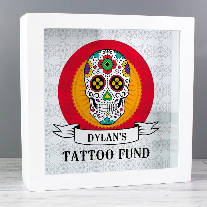 Personalised Sugar Skull Fund and Keepsake Box for Him - Oh My Gift