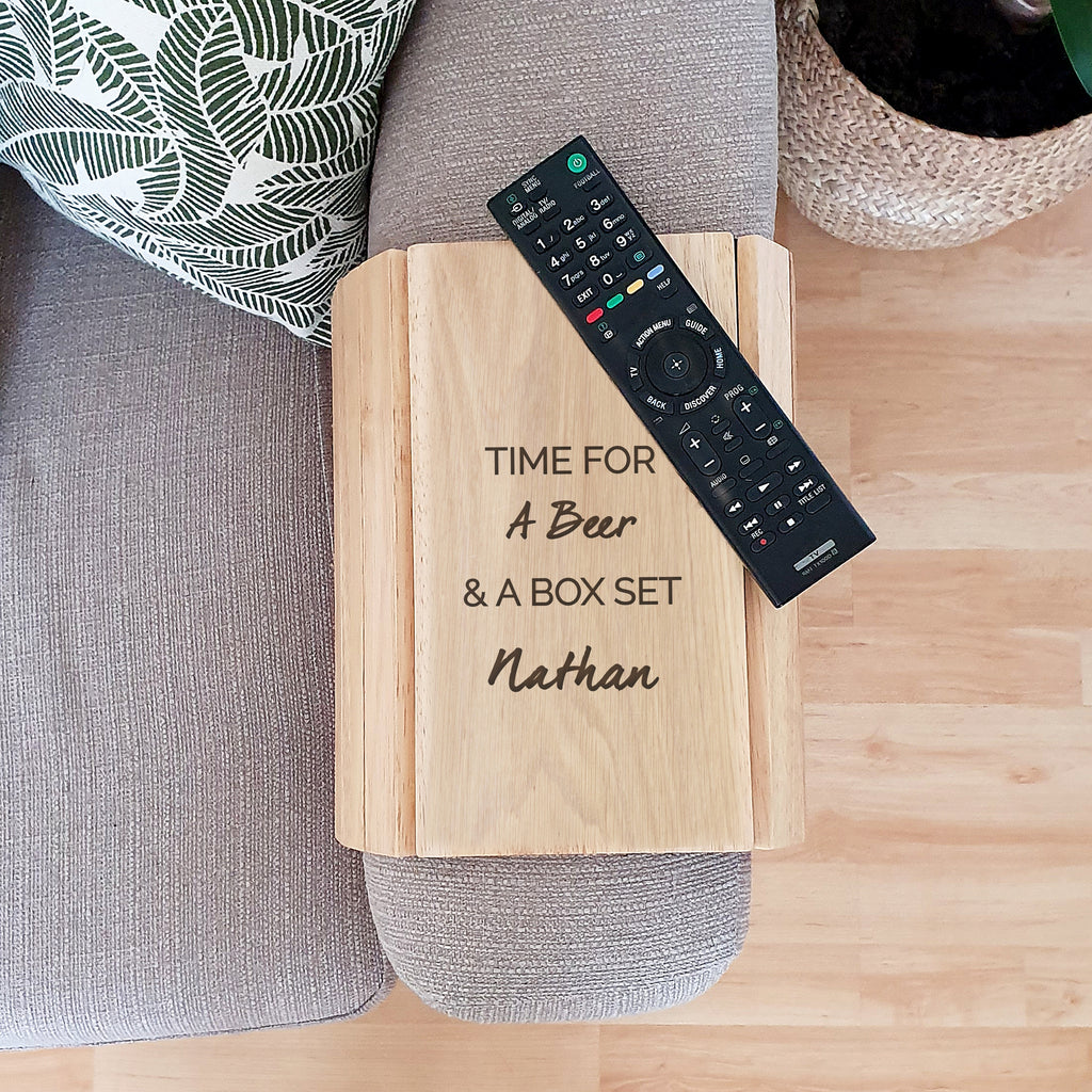 Personalised Wooden Sofa Tray