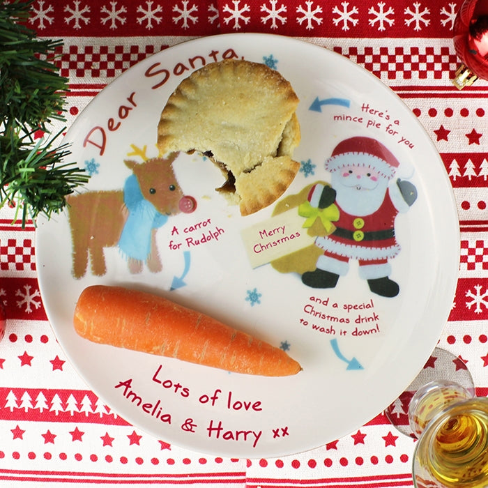 Personalised Felt Stitch Friends Mince Pie Plate - Oh My Gift